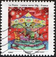 Oblitération Moderne Sur Autoadhésif De France N°  904 - Vœux 13 - Les Petits Bonheurs - Carrousel - France