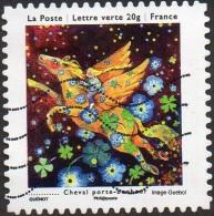 Oblitération Moderne Sur Autoadhésif De France N°  908 - Vœux 13 - Les Petits Bonheurs - Cheval Porte-bonheur - France