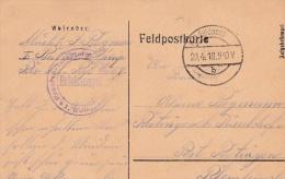 Feldpost WW1: Reserve Infanterie Regiment Nr. 69 P/m 20.4.1918  (G72-61) - Militaria
