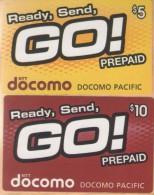 Guam - Mic NTT Docomo Pacific Phonecards, Ready, Send GO!, 5$ & 10$, Exp 1/2013, Used - Guam