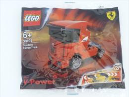New Sealed Singapore SHELL LEGO V-Power  30191 Scuderia Ferrari Truck - Figures
