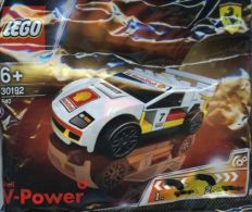 New Sealed Singapore SHELL LEGO V-Power  30192  F40 Ferrari White Racer - Figures