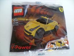 New Sealed Singapore SHELL LEGO V-Power  30194 Ferrari 458 Italia Yellow Racer - Figures