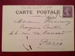 N° 236 YT  Tache Devant Visage Cad Et Cachet Privé LA GRAND COMBE - Variétés: 1921-30 Lettres & Documents