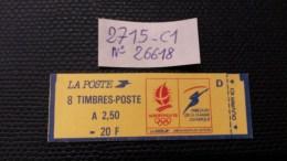 Carnet  N° 2715-C1  Neuf  **  TB  à 18 % De La Cote. - Carnets