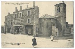 """VERGONGHEON (Hte Loire) - Place De L'Église - Animée - Épicerie, Mercerie, Rouennerie """"Marquis - Dorel"""" - Non Classés"""