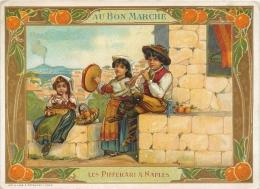Chromo Au Bon Marché, Les Pifferari à Naples - Au Bon Marché