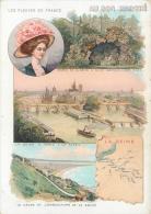 Chromo Au Bon Marché, Les Fleuves De France, La Seine - Au Bon Marché