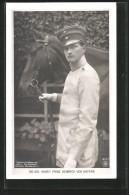 AK Sr. Kgl. Hoheit Prinz Heinrich Von Bayern Neben Einem Pferd Stehend - Royal Families