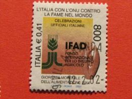 ITALIA USATI 2001 - ITALIA ONU CONTRO FAME NEL MONDO IFAD - SASSONE 2572 - RIF. G 2230 LUSSO - 6. 1946-.. Repubblica