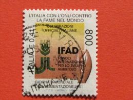 ITALIA USATI 2001 - ITALIA ONU CONTRO FAME NEL MONDO IFAD - SASSONE 2572 - RIF. G 2231 LUSSO - 6. 1946-.. Repubblica