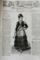LA MUSICA POPOLARE GIORNALE EBDOMADARIO ILLUSTRATO N. 1 6/4/1882 ADELINA PATTI (MADRID 1843-CRAIG-Y-NOS 1919) SOPRANO - Musica