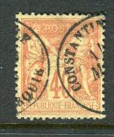 Superbe N° 94 Cachet à Date De Constantinople Turquie - 1876-1898 Sage (Type II)