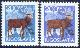 "YUGOSLAVIA - JUGOSLAVIA -  ERROR  COLOR  ""BLUE + VIOLET BLUE"" - DEER  - **MNH - 1978 - Imperforates, Proofs & Errors"