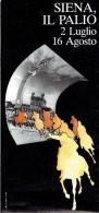 Sienne, Siena, Toscane Ancien Dépliant Sur Le Palio Avec Photo Aérienne Géante De La Fête : 50 X 43 Cm (1984) - Dépliants Touristiques