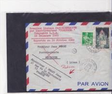 Premiere Liaison Paris Beyrouth 16.12.66 - Poste Aérienne