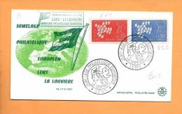 FDC: Enveloppe, Jumelage Philatélique Lens La Louvière, 16-17 .9; 1961 - 1960-1969