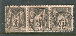 Rare Bande De Trois N° 97 Cachet à Date De Port Saïd 1897 - 1876-1898 Sage (Type II)