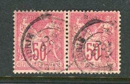 Superbe Paire De N° 98 Cachet à Date D´Alexandrie - 1876-1898 Sage (Type II)