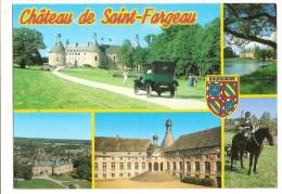 Saint Fargeau (89) Le Chateau ( Voiture - Automobile ) Multivue - Saint Fargeau