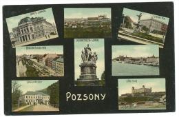 Slovakia Bratislava Pozsony Pressburg MULTIVIEW Color Card 1909 - Slovacchia