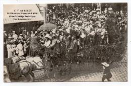 ROUEN-Fête Millénaire Normand 1911--Cortège,char Des Moissonneurs (très Animée,attelage).....à Saisir - Rouen