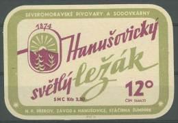 Tchécoslovaquie Tchéquie  Etiquette Bière Czechoslovakia Czech Beer Label - Beer
