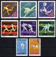 POLEN 1964 - Olymische Spiele Tokio 1964 - MiNr.1514-1521 Kompletter Satz - Summer 1964: Tokyo