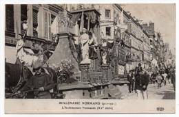 ROUEN-Fête Millénaire Normand--Cortège,char De L'Architecture Normande (très Animée,attelage).....à Saisir - Rouen