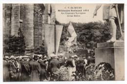 ROUEN-Fête Millénaire Normand--Chanteurs Norvégiens Devant La Statue De Rollon (très Animée) Pas Très Courante..à Saisir - Rouen