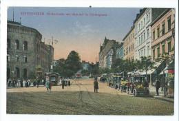 ALLEMAGNE - SAARBRUCKEN : Reichstrasse Mit Bahnhof Im Hintergrund - Saarbruecken