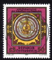 ÖSTERREICH 1984 - Imser Uhr - Johannes Von GMUNDEN - Astronom & Mathematiker - FDC - Uhrmacherei