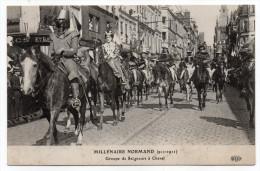 ROUEN-Fête Millénaire Normand--Cortège,Groupe De Seigneurs à Cheval (animée,chevaux).......à Saisir - Rouen