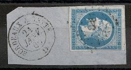AMBULANT B C,  BORDEAUX A CETTE  Sur Napoléon III Non Dentelé. - 1853-1860 Napoleon III