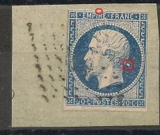 Variétés NUAGE Derrière La Tete + FILET Nord Sur  Napoléon III Non Dentelé. A PLANCHER - 1853-1860 Napoleon III