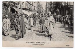 ROUEN-Fête Millénaire Normand--Cortège--Groupe De Notables (très Animée).......à Saisir - Rouen