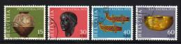 SCHWEIZ 1973 - Archäologische Funde - MiNr.996-999 Kompletter Satz - Archäologie