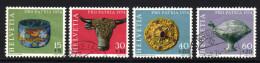 SCHWEIZ 1974 - Archäologische Funde - MiNr.1031-1034 Kompletter Satz - Archäologie