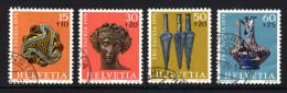 SCHWEIZ 1975 - Archäologische Funde - MiNr.1053-1056 Kompletter Satz - Archäologie