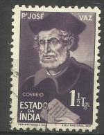 Portuguese India - 1948 Jose Vaz 1.5t Used  Sc 477 - Portuguese India