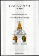 BRD 1977 - Archäologisches Kulturgut - Ersttagsblatt Mit Abhandlung - Archäologie