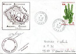 N°406 B -enveoppe  Des TAAF -cachet Mission Botanique 1988- - Lettres & Documents