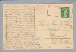 Heimat GR Lenz 1913-09-29 Aushilfs-O Auf Postkarte - Suisse