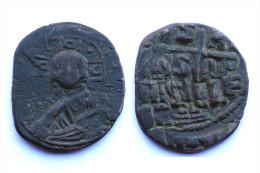 Follis Anonyme (Basilius II°+Constantinus VIII°) BYZANTINE. Classe A3. Bronze. - Byzantine