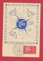 Carte  --  Conseil De  L Europe  --  16 Sept 1961 - Cartes-Maximum