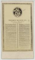 CDV 1860-70. Testament De Louis XVI. - Old (before 1900)