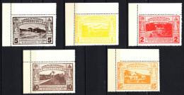 Nicaragua  Mi. 590/4  Eröffnung Eisenbahnstrecke San Jorge - San Juan  1932 **/MNH ERSt. - Trains