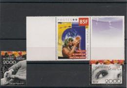 POLYNÉSIE  Année  1999 L'an 2000   N° Y/T : 608-610/11** - Polynésie Française