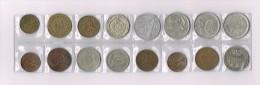 50 FRANCS 1972,Italy,Espania,Philipinas,Canada,Belgique X 16 !!!!! Ensemble De Pièces De Monnaie-set Of Coins - Monnaies