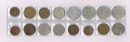 50 FRANCS 1972,Italy,Espania,Philipinas,Canada,Belgique X 16 !!!!! Ensemble De Pièces De Monnaie-set Of Coins - Non Classés